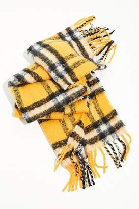 Urban Outfitters Cozy Plaid Blanket Scarf
