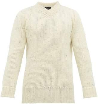Melange Home Howlin' - Strange Grave Rainbow Wool Sweater - Mens - White
