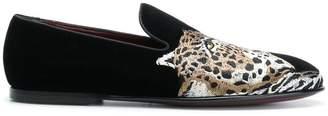Dolce & Gabbana leopard appliqué loafers