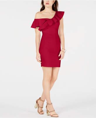 GUESS Farrah Ruffled Bodycon Dress