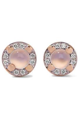 Pomellato M'ama Non M'ama 18-karat Rose Gold, Moonstone And Diamond Earrings