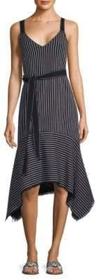 Derek Lam 10 Crosby Belted Stripe Dress