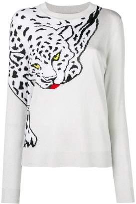Krizia white leopard print sweater