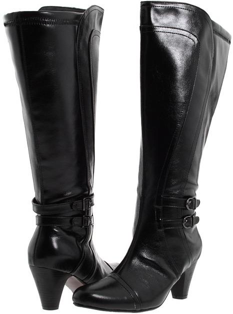 Fitzwell Freida Boot Extra Wide Calf Boot (Black Glazed) - Footwear