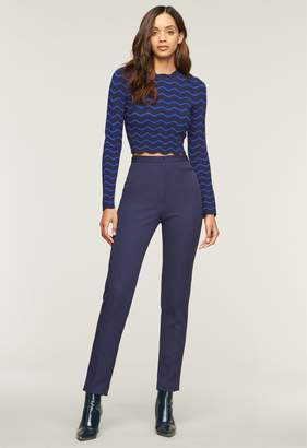 Milly Stretch Crepe High Waist Skinny Pant