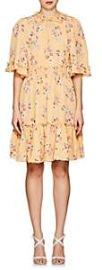 By Ti Mo byTiMo Women's Floral Crepe A-Line Dress - Yellow
