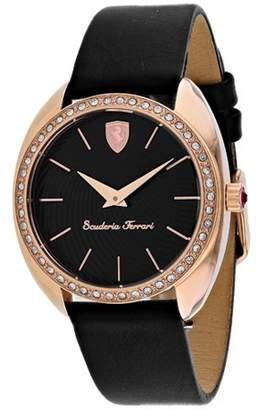 Ferrari Women's Scuderia Donna Crystallized Black Band Watch 820019