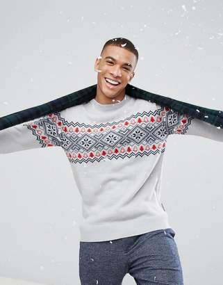 French Connection Fairisle Holidays Sweater