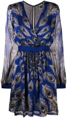 Just Cavalli peacock feather mini dress