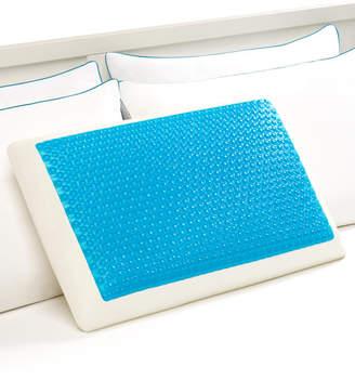Comfort Revolution Cool Comfort Hydraluxe Standard Pillow, Gel & Custom Contour Open Cell Memory Foam