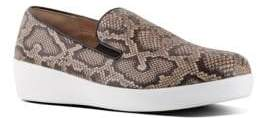 FitFlop Superskate Leather Slip-On Sneakers