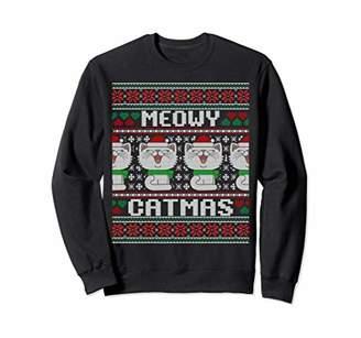 Meowy Catmas Ugly Christmas Sweater Sweatshirt Cat Lovers