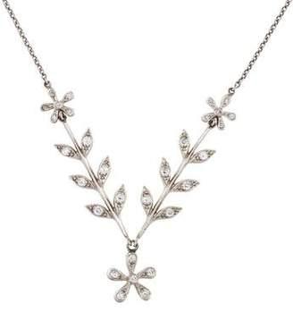 Cathy Waterman Platinum Diamond Wheat Sheaf & Daisy Necklace