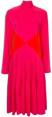 Cédric Charlier turtle neck mid-length dress