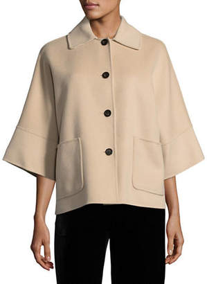 Max Mara Juditta Double-Faced Virgin Wool Coat