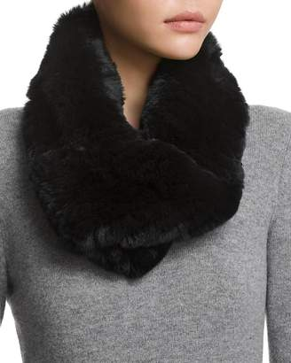 Surell Twisted Rabbit Fur Loop Scarf
