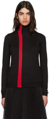 Marni Black and Red Wool Turtleneck