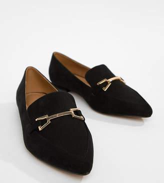 2b38d7e9689 Asos Design DESIGN Lance Wide Fit Pointed Loafer Ballet Flats