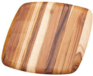 "Proteak TEAKHAUS BY Rounded Square Edge Grain 16"" Wood Cutting Board"