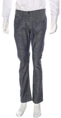 J Brand Chambray Kane Slim-Straight Pants