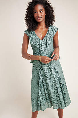 Anthropologie Antoinette Ruffled Midi Dress