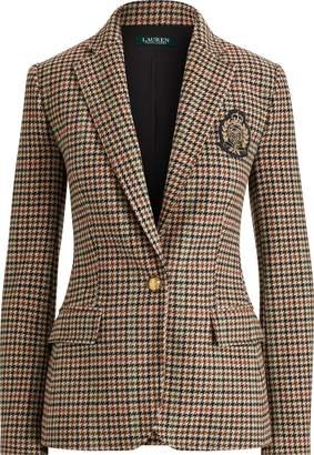 Ralph Lauren Bullion Plaid Wool Blazer