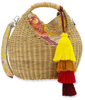 BEIGE Maison Alma Heart Basket Crossbody Bag
