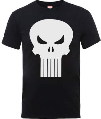 Marvel The Punisher Skull Logo Men's Black T-Shirt