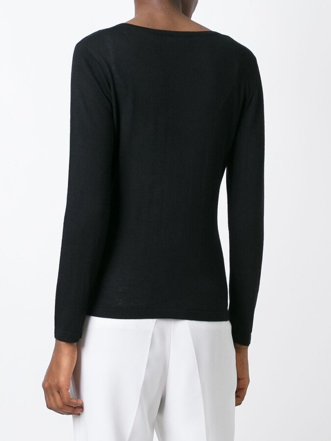 N.Peal cashmere superfine v-neck sweater