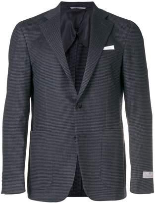 Canali check pattern blazer