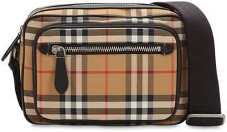 Burberry Checked Nylon Messenger Bag