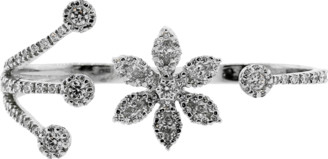 Yeprem Jewellery Diamond Flower Two Finger Ring