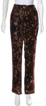 Mary Katrantzou Velvet High-Rise Pants
