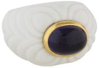 Bvlgari 18K Iolite Chandra Ring