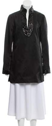 Tory Burch Silk Sequined Tunic Top