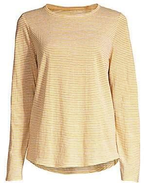 Eileen Fisher Women's Striped Organic Linen T-Shirt