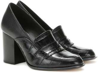 Loewe Leather loafer pumps