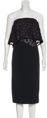 Cushnie et Ochs Strapless Sheath Dress