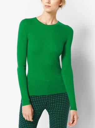 Michael Kors Polka Dot Cropped Stretch-Wool Pants