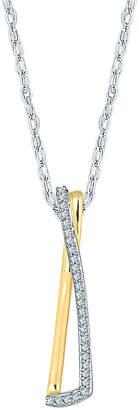 JCPenney FINE JEWELRY Diamond Accent Criss-Cross Pendant Necklace