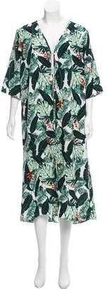 Rachel Zoe Tropical Print Kimono