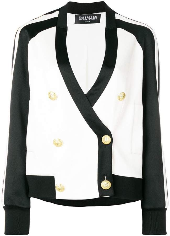 double breasted bomber jacket