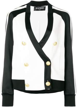 Balmain double breasted bomber jacket