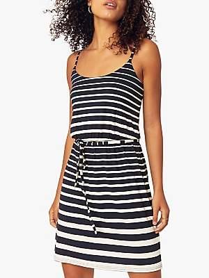 Oasis Stripe Camisole Dress, Blue/Multi