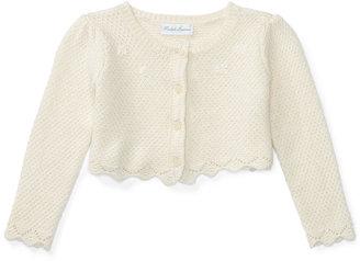 Ralph Lauren Baby Girls' Long-Sleeve Shrug $49.50 thestylecure.com