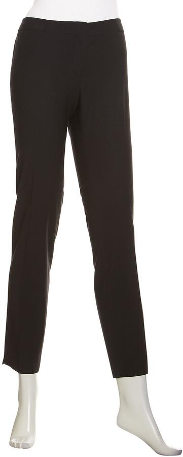 Lafayette 148 New York Astor Stretch Cropped Pants, Black