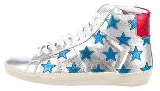 Saint Laurent SL/06 Star-Accented Sneakers w/ Tags