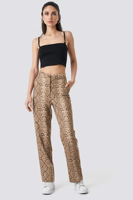 NA-KD Anna Nooshin X Straight Fit Suiting Pants Multicolor