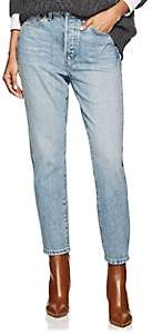 RE/DONE Women's Double Needle Crop Jeans-Lt. Blue