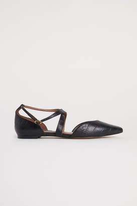 H&M Flats with Strap - Black